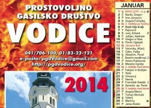 koledar 2014