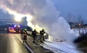 25.3.2018 Intervencija – goreče vozilo na AC Vodice-Ljubljana