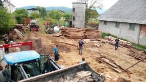 5.5.2018 Delovna akcija - Pomoč pri čiščenju zrušenega objekta