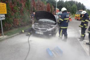 23.7.2018 Intervencija Mol - gori avto