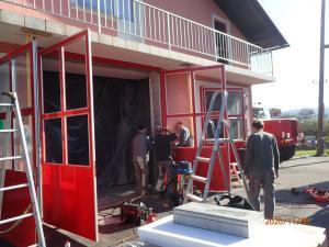 4.11. - 7.11.2020 Povečava garažnih vrat za prihod novega vozila GVC 24/50