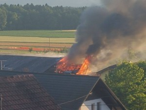18.6.2017 Intervencija - požar Jamšek Bukovica